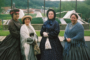 Ladies in civilian dress